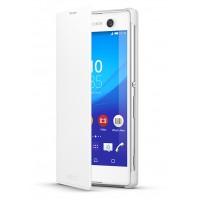 Atverčiamas dėklas Sony XPERIA M5 (Baltas)